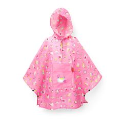 Poncho mini maxi  kids abc friends pink