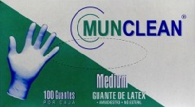 GUANTES LATEX MUNCLEAN 100 UN.