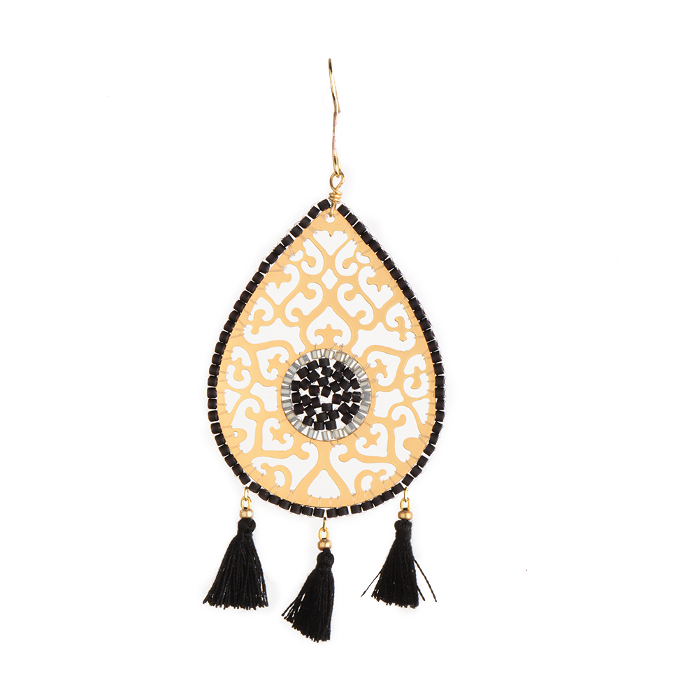 Drop Fili Earring-GP-L - Drop Fili Earring-GP-L-4254
