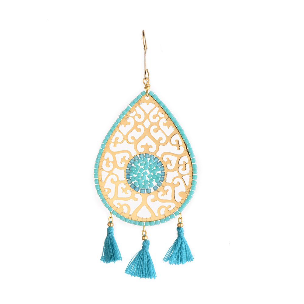 Drop Fili Earring-GP-L (varios colores)