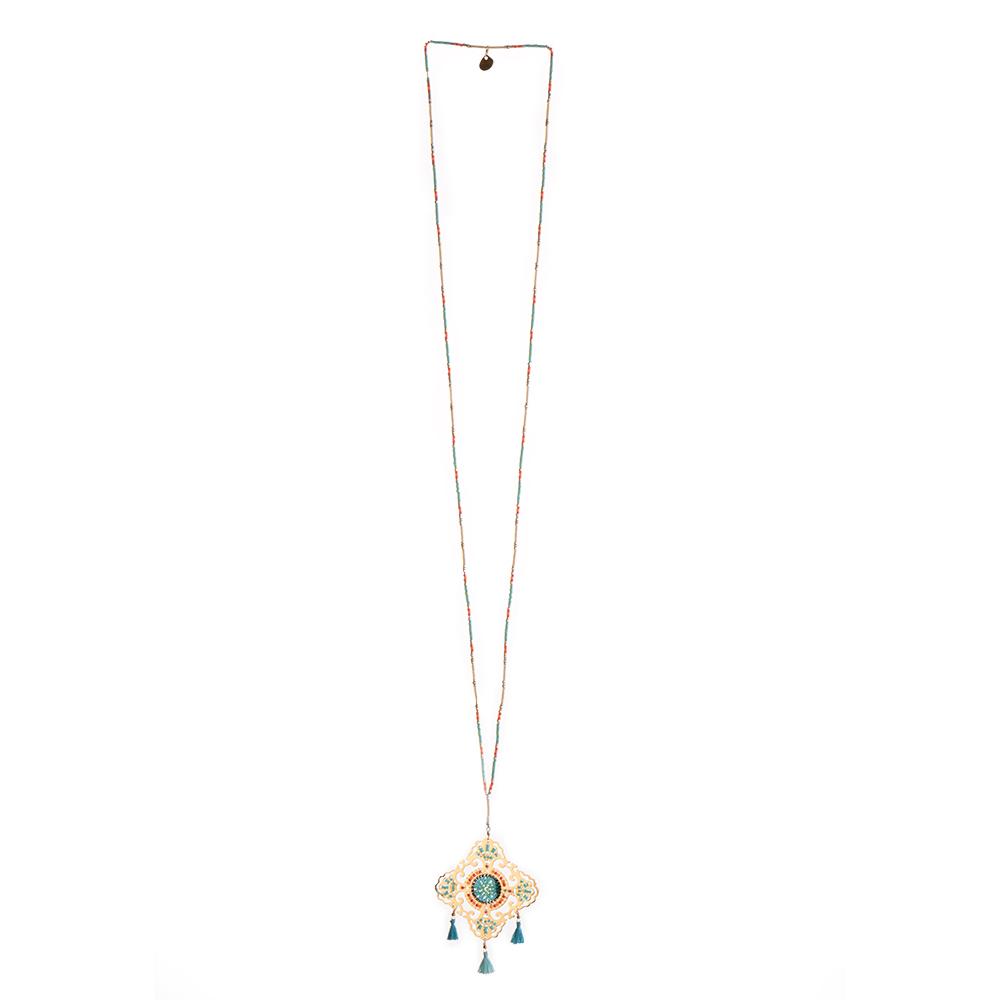 Shield Necklace-GP-L