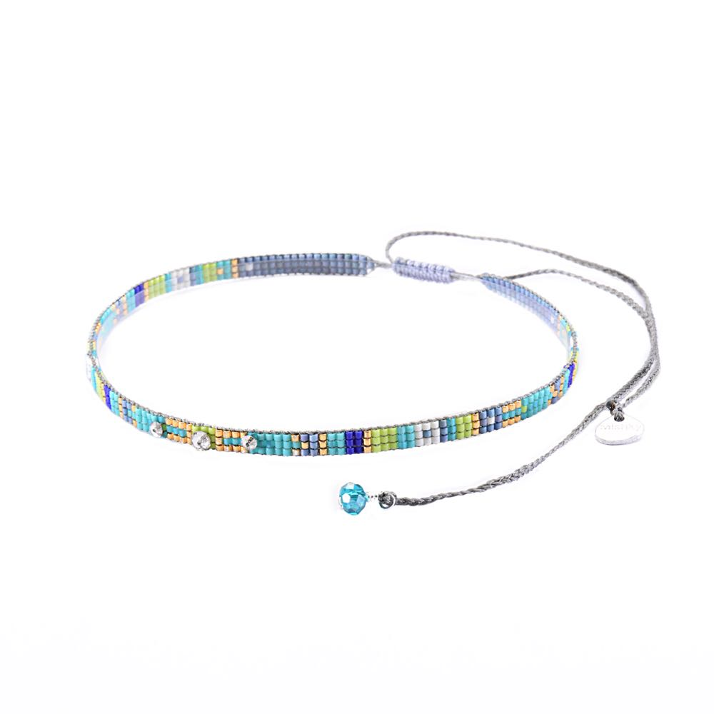 Stone Choker Necklace-BE-XS