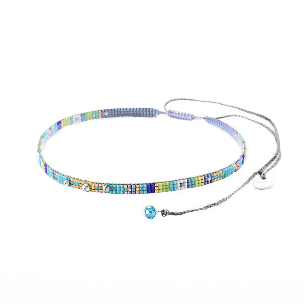 Stone Choker Necklace-BE-XS - Stone Choker Necklace-BE-XS-3894