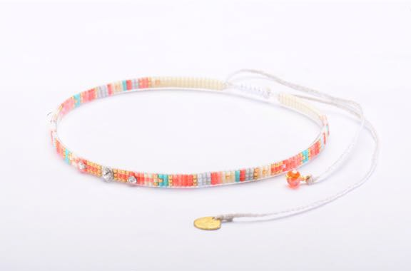 Stone Choker Necklace-BE-XS - Stone Choker Necklace-BE-XS-3896