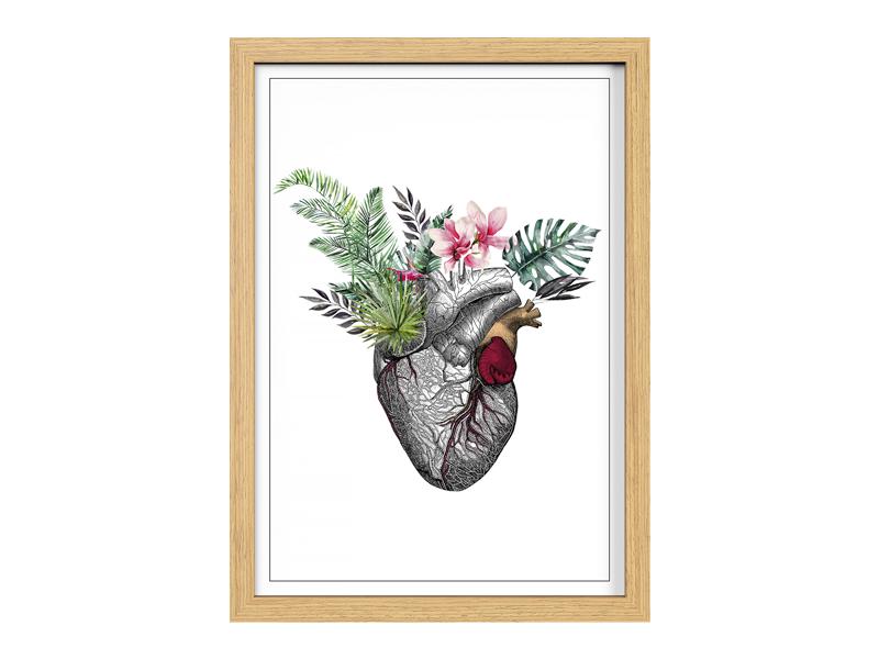 Cuadro 20x30 Corazón tropical
