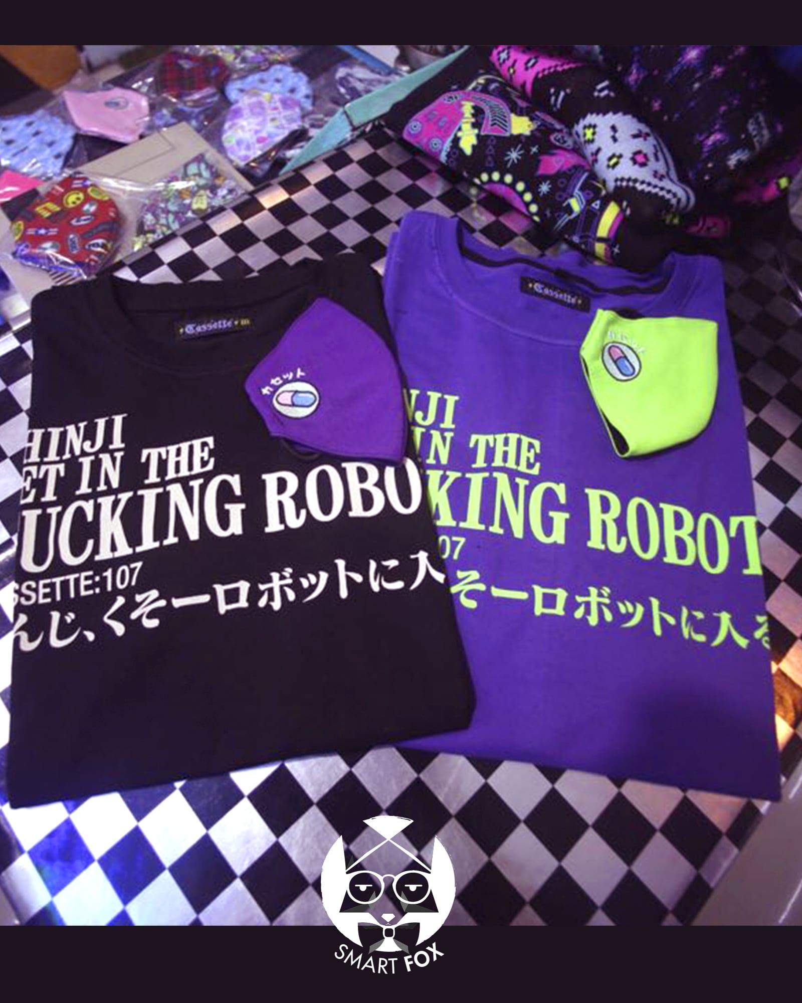Polera Cassette Fucking Robot - Evangelion