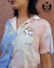 Camisa corta Multicolor - bordado