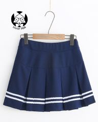 FALDA TABLEADA BLUE NAVY