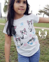 Polera Gato Chii varios (gatitos) - (niñx)