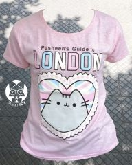 Polera Gato Pusheen London (niñx)