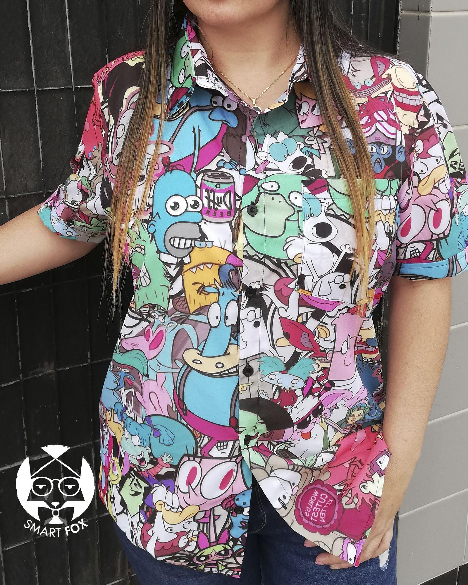 Camisa Cassette Cartoons