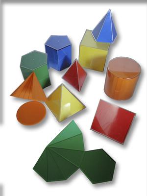 Cuerpos geométricos acrílicos