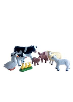 Animales de la granja jumbo con crías