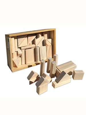 Bloques madera natural