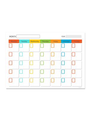 Calendario escolar papel inglés