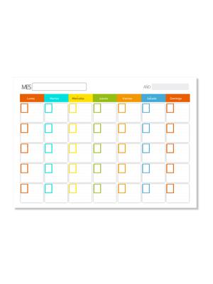 Calendario escolar reutilizable español
