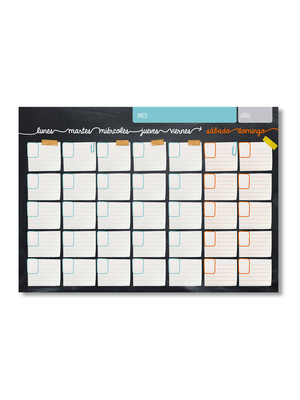 Calendario pizarrón papel