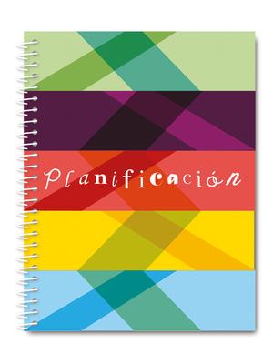Cuaderno de planificación efecto óptico