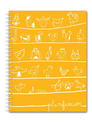 Cuaderno de planificación pájaros
