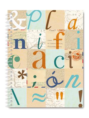 Cuaderno de planificación tipografías