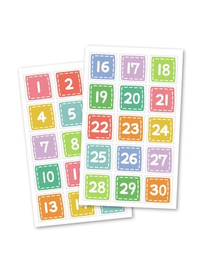 Distintivos de números