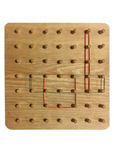 Geoplano de madera