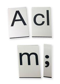 Set de letras moviles con imán