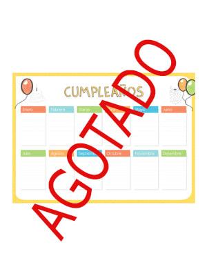 Panel de cumpleaños escolar español AGOTADO