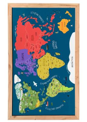 Mapa imantado del mundo