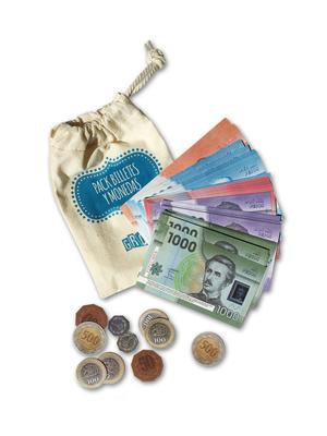 Pack de billetes y monedas
