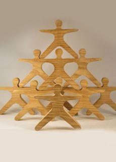 Acróbatas de madera