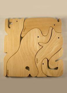 Puzzle animales de madera