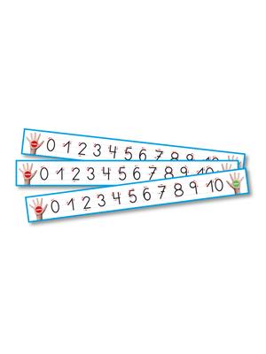 Set números caligráficos