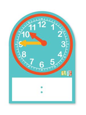 Set reloj estudiante cartón