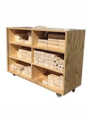 Carro bloques de madera