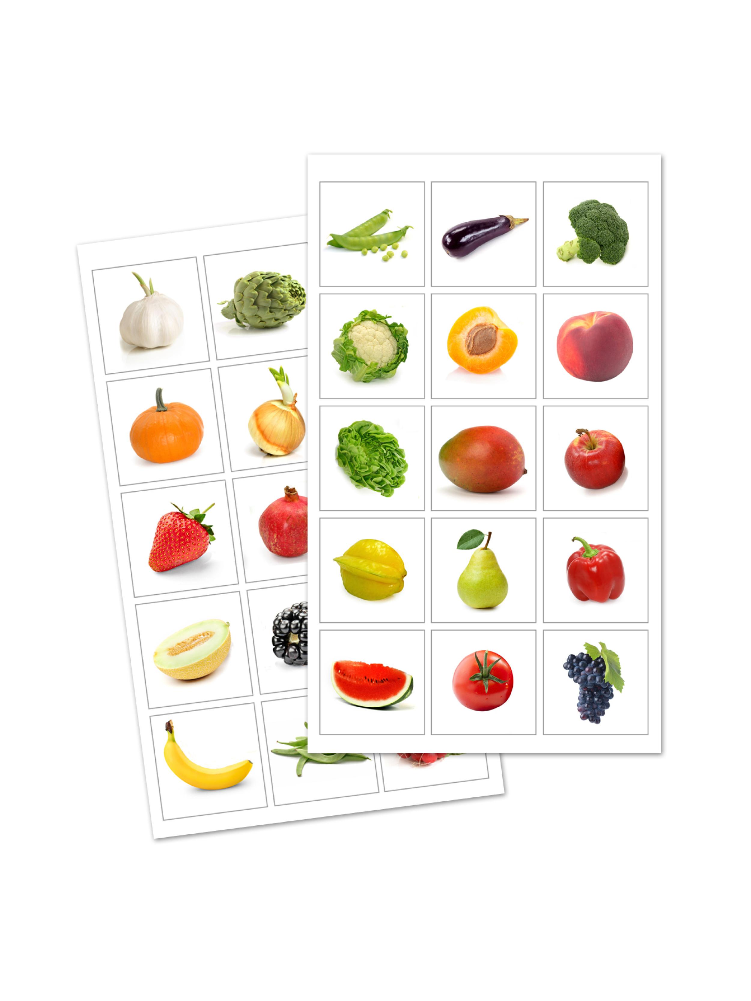 Distintivos frutas y verduras