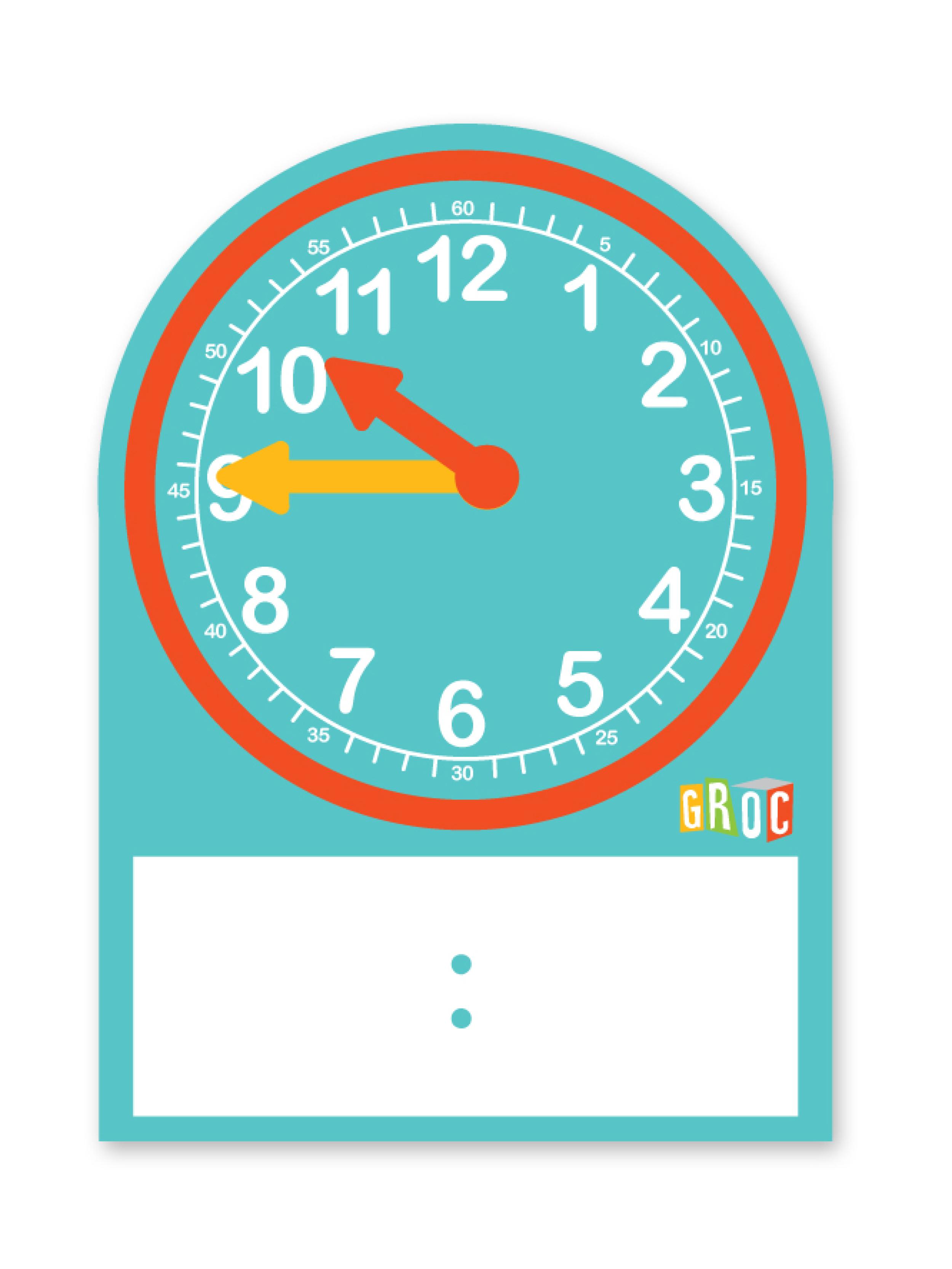 Reloj estudiante cartón