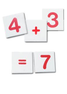 Azulejos números magnéticos