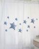 Cortina Estampado Estrellas Azules MS