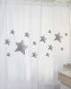 Cortina Estampado Estrellas Grises MS