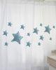 Cortina Estampado Estrellas Turquesas MS