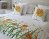 Piecera estampada jardín de flores Amapola