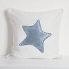 Funda Cojín Estampado Estrella Solitaria Azul MS
