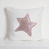 Funda Cojín Estampado Estrella Solitaria Rosa MS