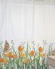 Cortina de baño estampada Jardín de flores Amapola