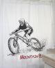 Cortina de baño estampada Mountain Bike