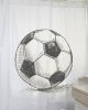 Cortina de baño estampada pelota Fútbol