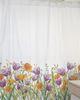 Cortina de baño estampada Jardín de flores Tulipán lila