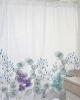 Cortina de baño estampada Jardín de flores Pensamientos