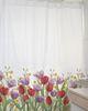 Cortina de baño estampada Jardín de flores Tulipán Rojo